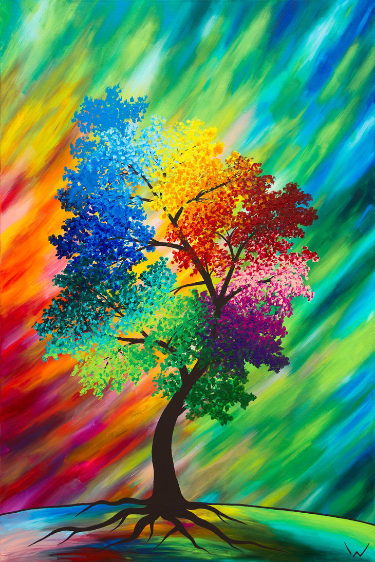 Colourful Tree by NicoW92