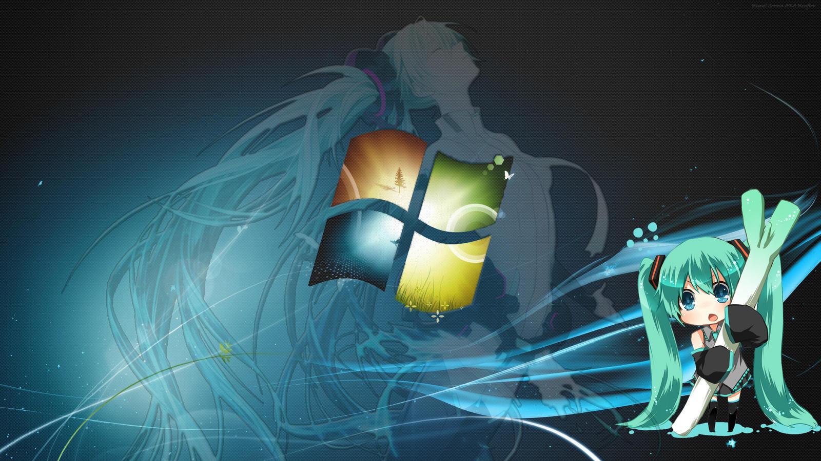 Hatsune Miku/Windows Wallpaper by Menfiou on DeviantArt