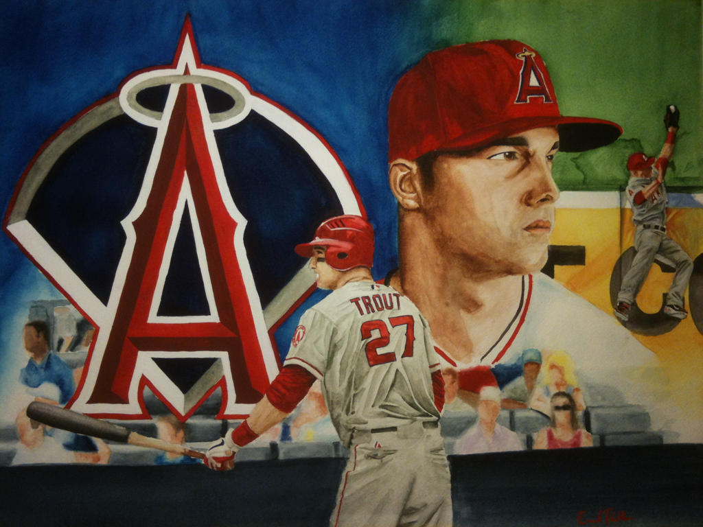 mike trout logo coloring pages - photo#25