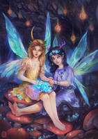 Woodland Faeries by vesssel