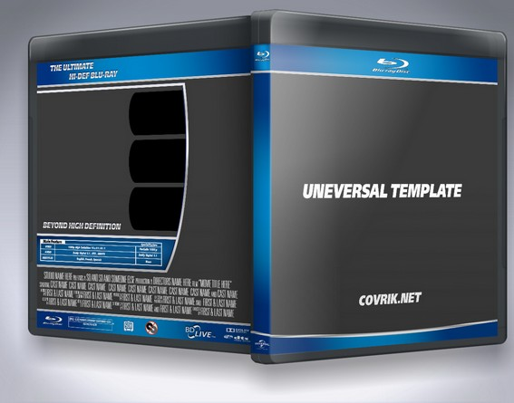 Universal Blu Ray Template by Covrik