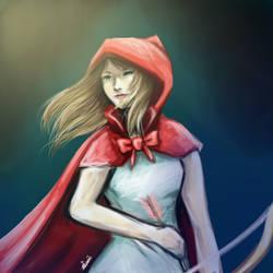 La cazadora de la caperuza roja