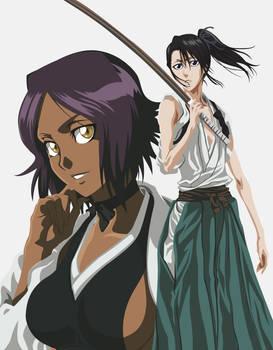 Yoruichi and Byakuya-bo