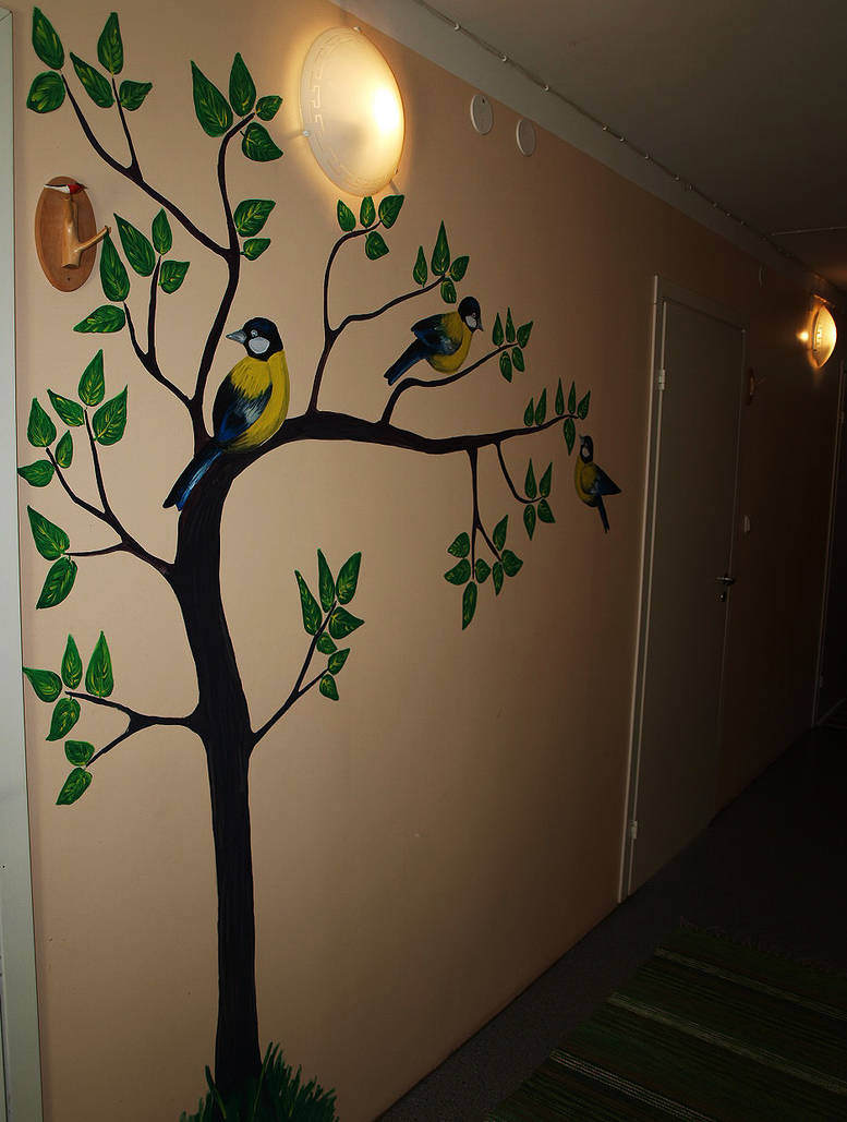 Wall Painting Birds By Hellluke On Deviantart