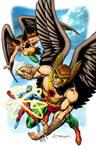 Hawkman / Hawkgirl / The Atom