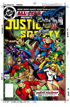 AllStar Comics #74 Cover Re-Creation