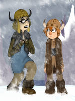 Hiccup and Fishlegs by cookiecutter60