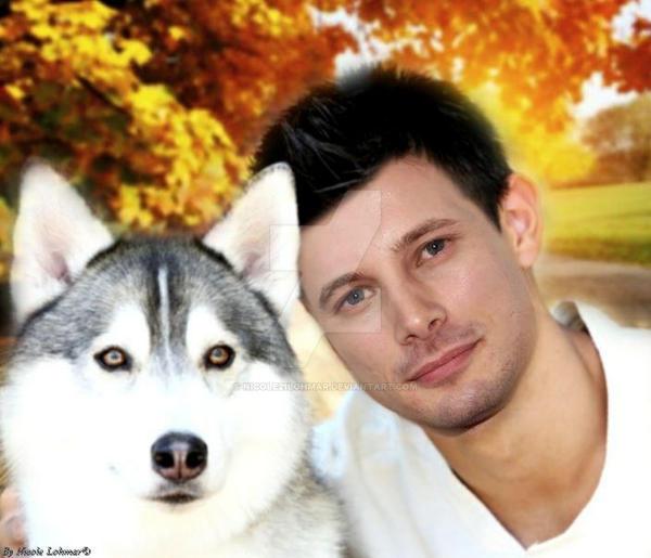 Bradley James  with dog  ( Manip ) by Nicole21Lohmar