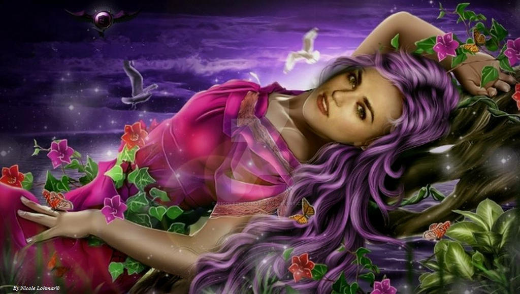 Katie as a fantasy girl by Nicole21Lohmar