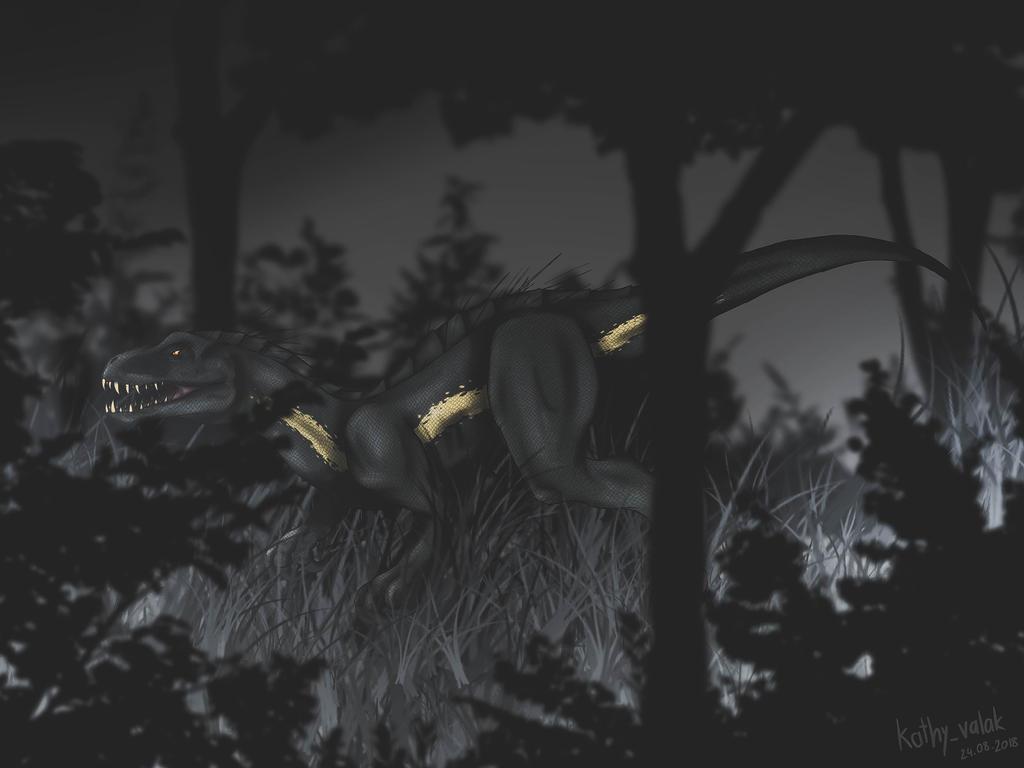 It lurks in the dark by CynderxNero