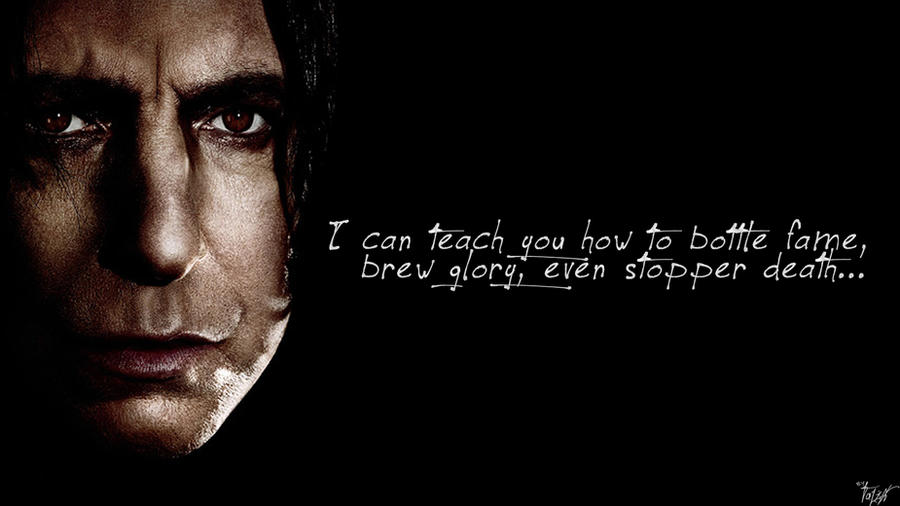 Harry Potter Wallpaper Snape Quote By TheLadyAvatar