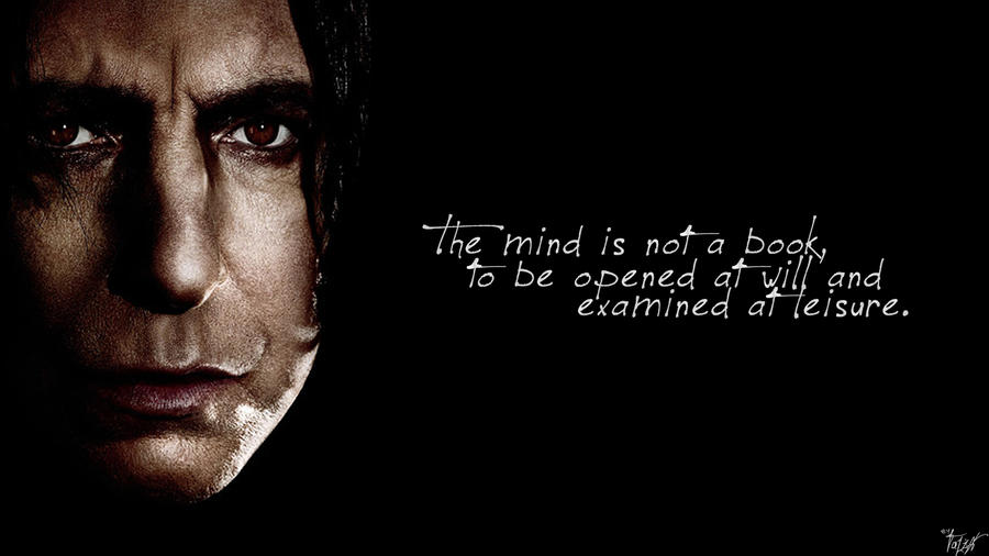 Harry Potter Wallpaper : Snape Quote! v4 by TheLadyAvatar ...