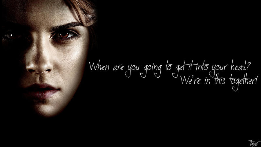 Harry Potter Wallpaper Hermione Quote V2 By TheLadyAvatar