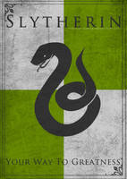 Game of Thrones Style Slytherin Banner by TheLadyAvatar