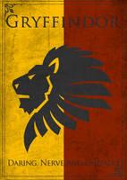 Game of Thrones Style Gryffindor Banner by TheLadyAvatar