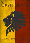 Game of Thrones Style Gryffindor Banner