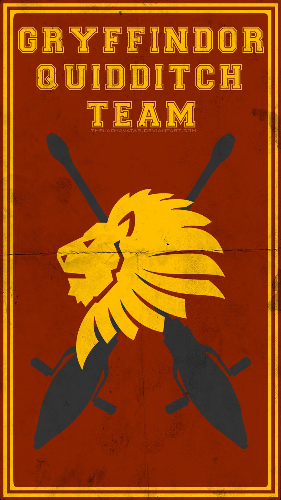 Quidditch Team Poster Gryffindor By TheLadyAvatar