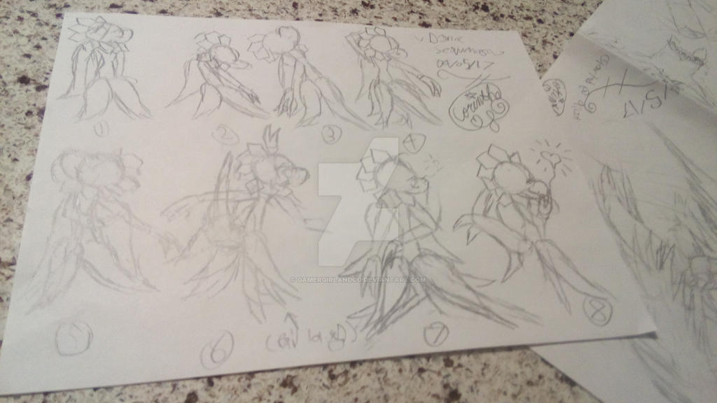 Dance Sequence Sketch by GamerGirlandCo