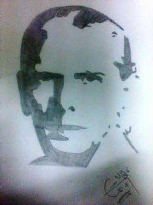 Pencil sketch of quaid e azam by hdraleee