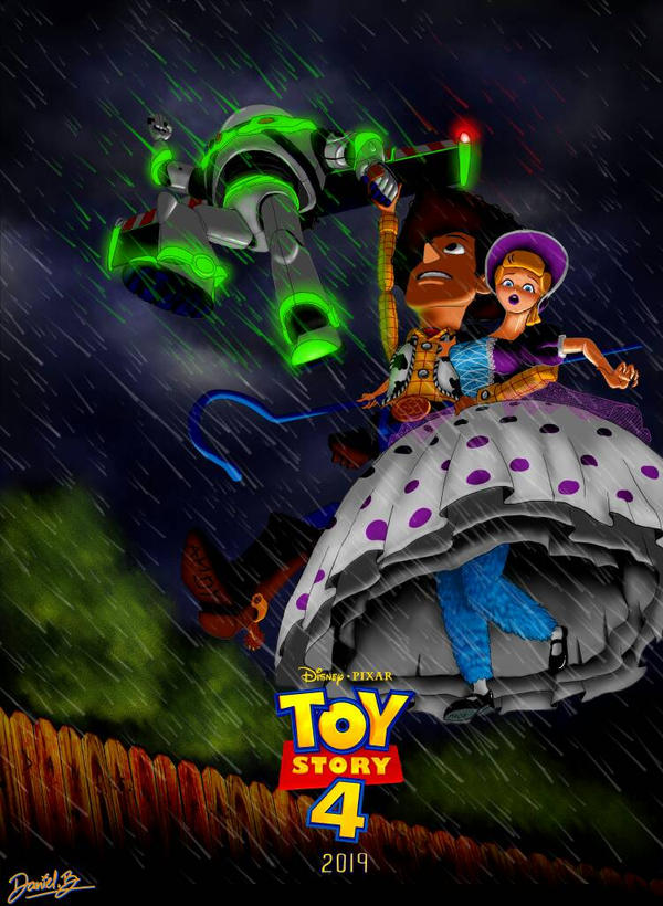Toy Story 4 Poster (fan Art) By ScribbleNscratch On DeviantArt