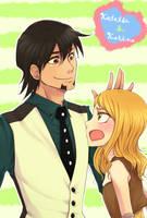 Kotetsu and Karina by nashiduki