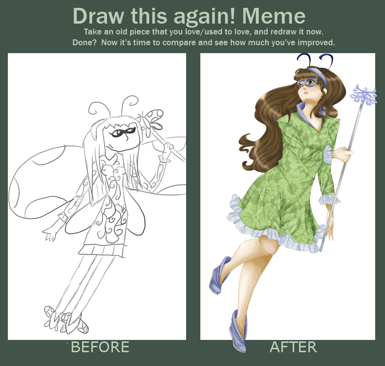 Before and after meme: Nature girl by TehIzzy