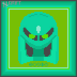 Kongu matoran mask in pixel art