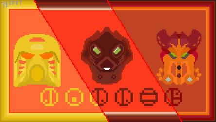 Jaller Mask Evolution in pixel art!