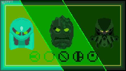 Kongu Mask Evolution in pixel art!