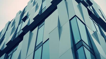 Geometric building by blaskkaffe
