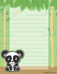 Stationery-bamboo panda