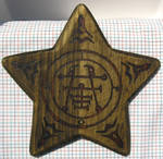 Seal of Ipos pyrography