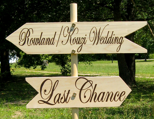 Wedding Signs pyro on wood