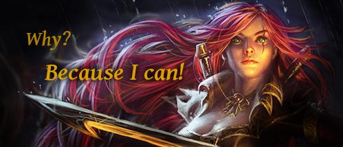 League of Legends - Katarina forum signature by Kath-Lin