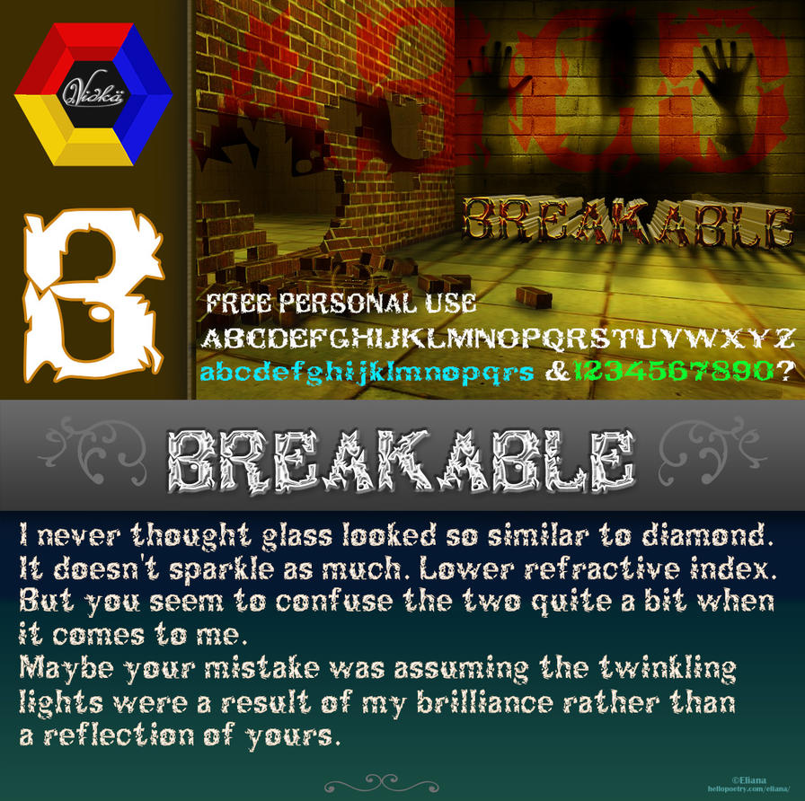 Breakable ~ Font by vidka