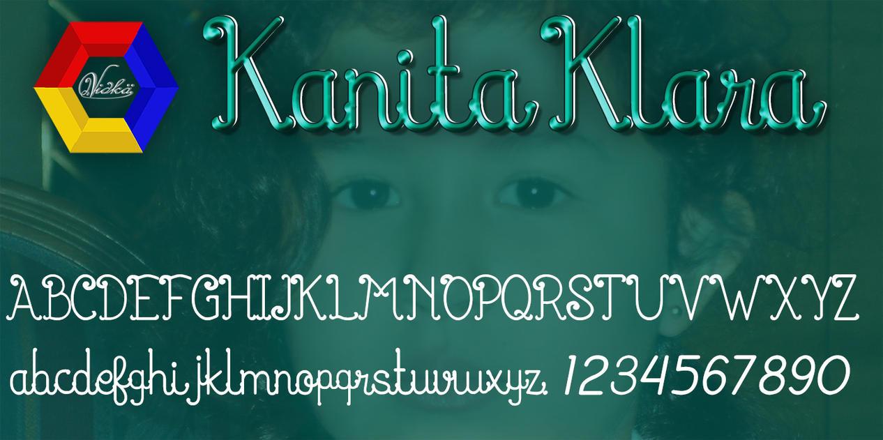 Kanita Klara [New Font] by vidka