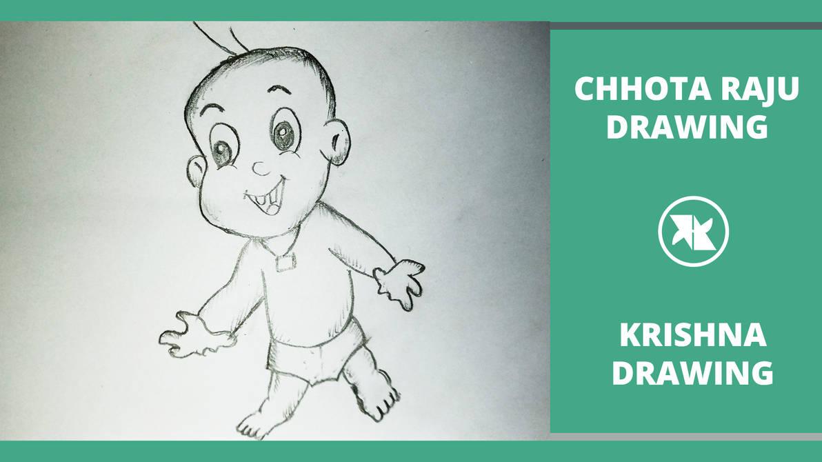 How to draw raju in chhota bheem how to draw raj by mlspcart on
