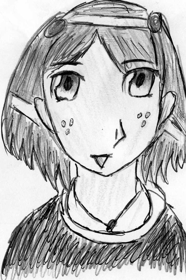 Manga Girl with Bunches pencil drawing by Fran48 on DeviantArt