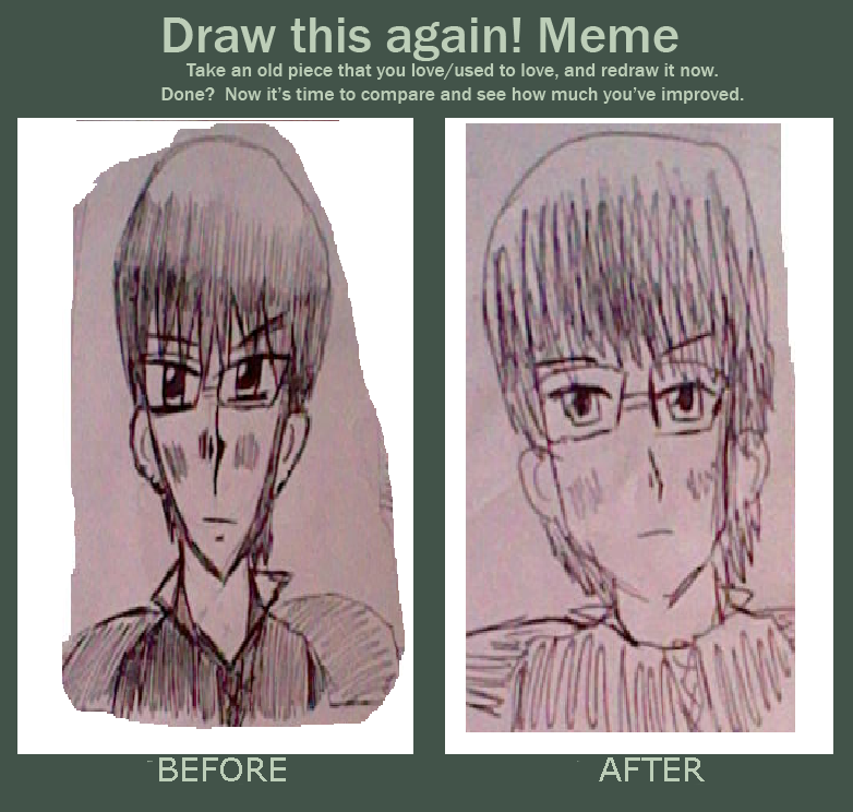 Improvement Meme -anime Guy With Glasses By Fran48 On
