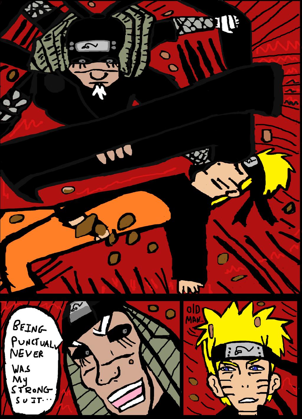 Naruto 646- Sarutobi Rescues Naruto from Ten tails by Fran48