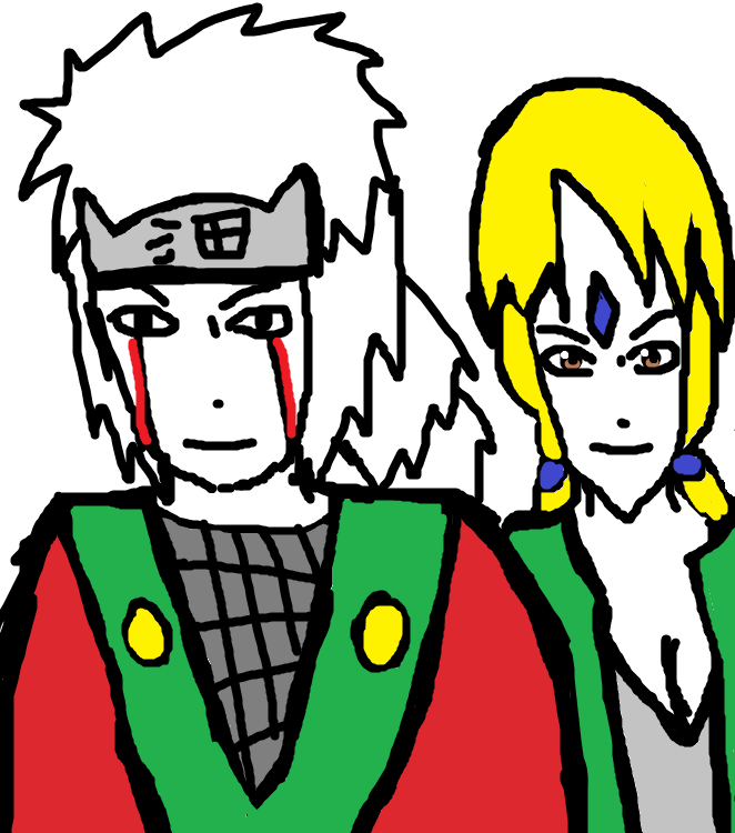 Jirayia and Tsunade by Fran48