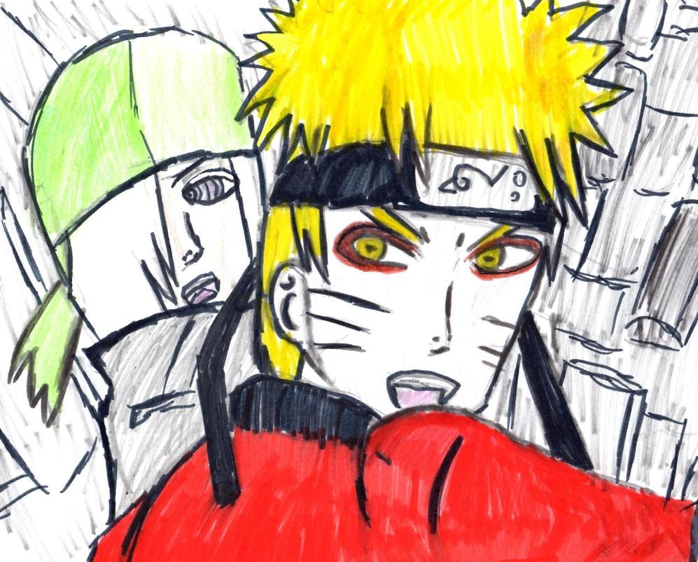 Blood Prison Sage Mode Naruto and Ryuuzetsu by Fran48