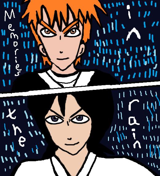 Ichigo + Rukia :D Memories in the rain by Fran48