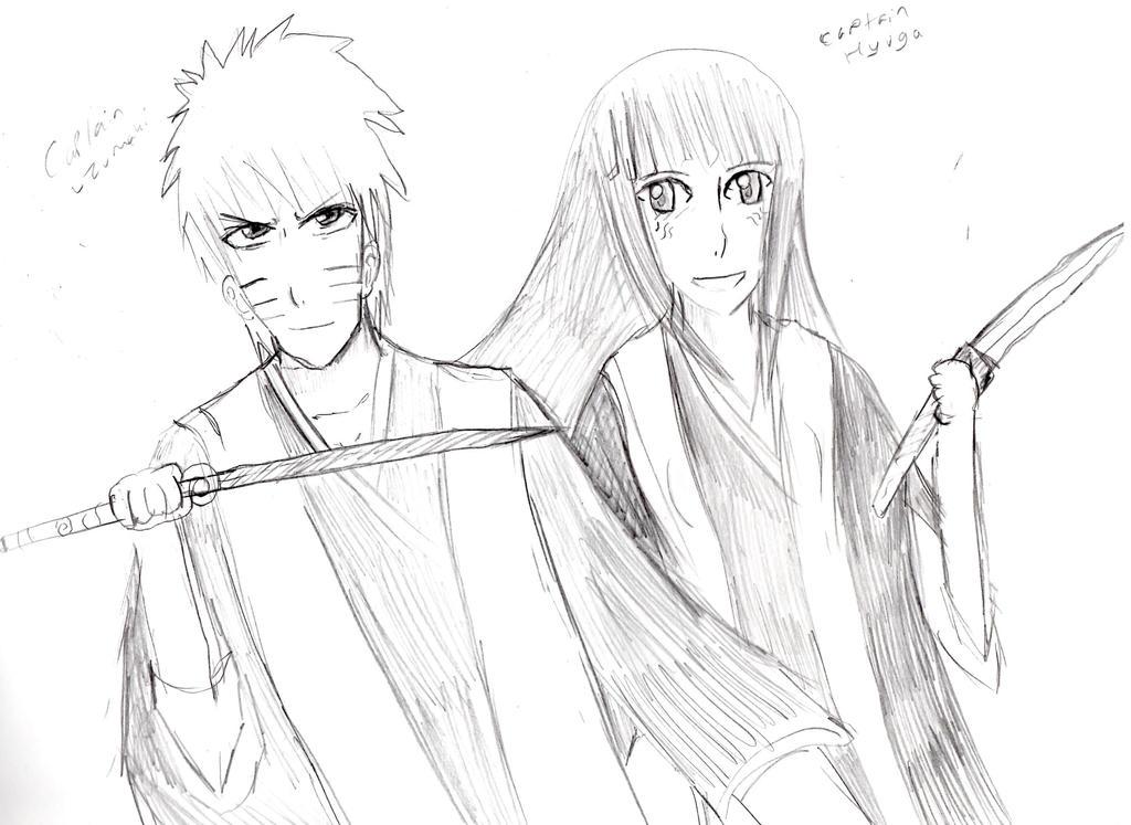 NaruHina Bleach crossover-Captains Uzumaki +Hyuga by Fran48
