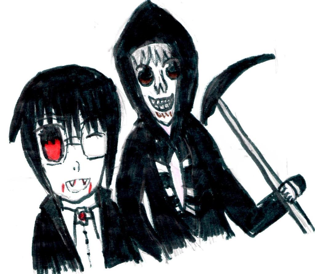 Chibis Renji and Kakiyama -Halloween by Fran48