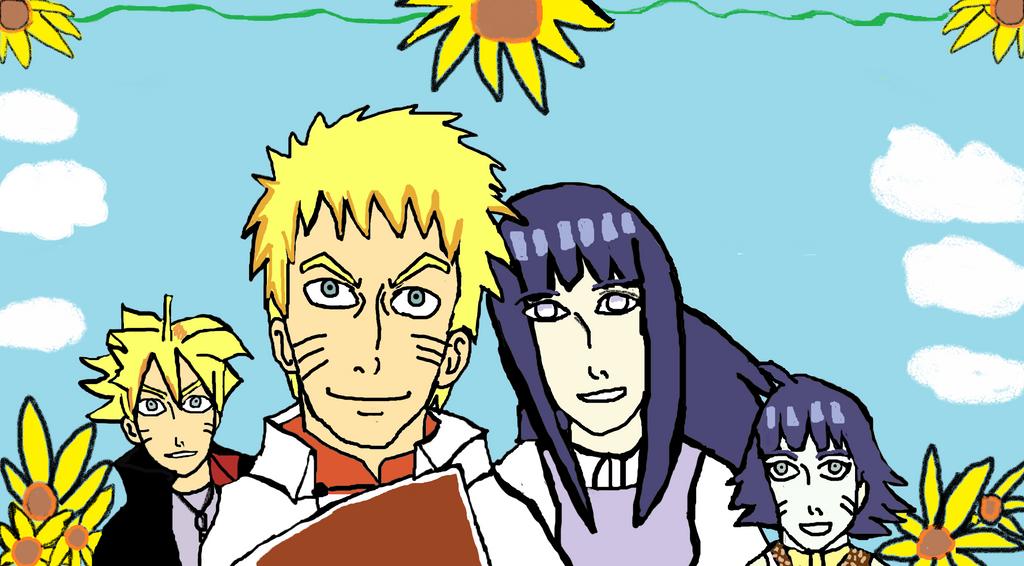 Uzumaki Family timeskip-Sunflowers by Fran48