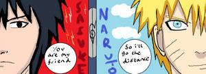 Distance-Naruto and Sasuke by Fran48