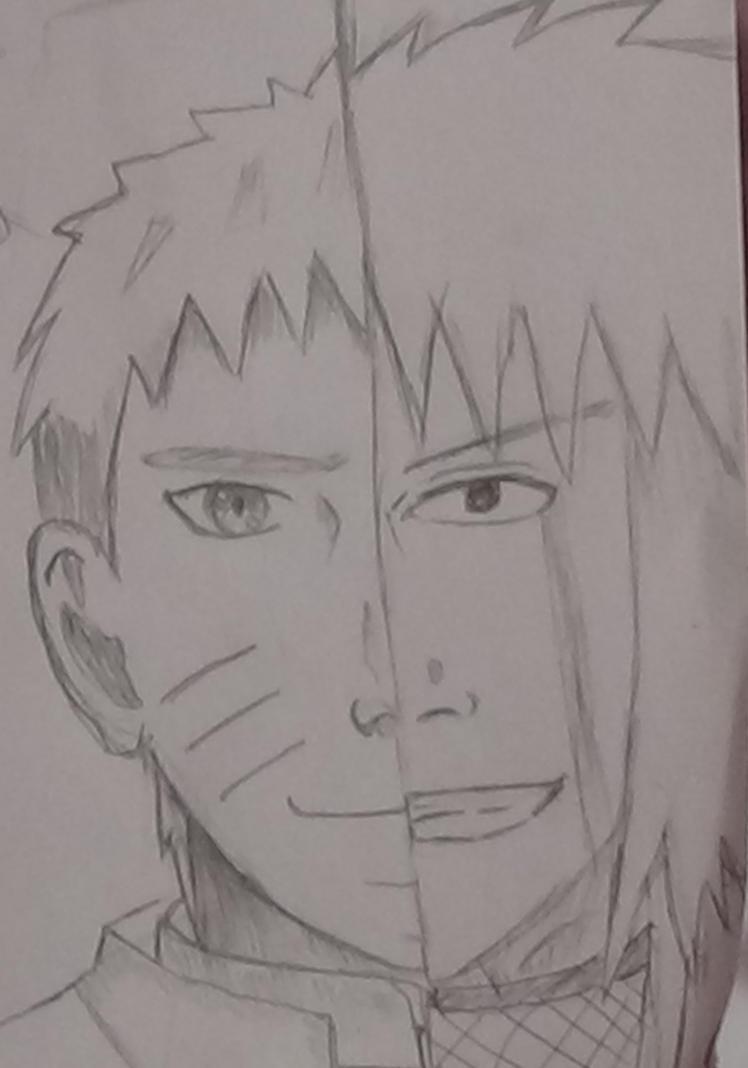 Naruto and Jiraiya sketch by Fran48