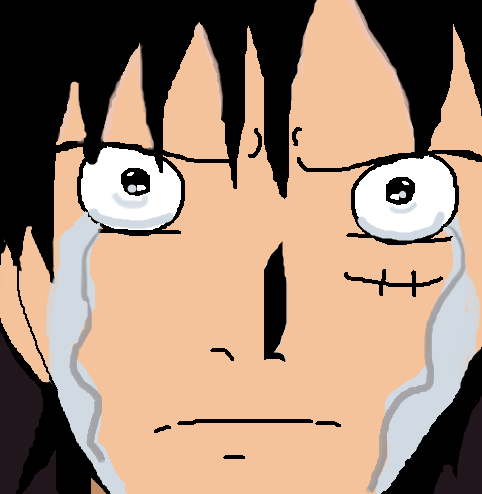 Luffy crying by Fran48
