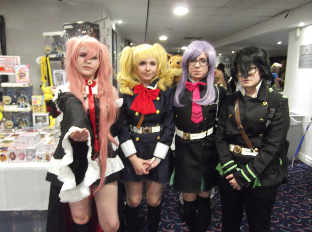 Seraph of the end group-including an eevee..XD by Fran48
